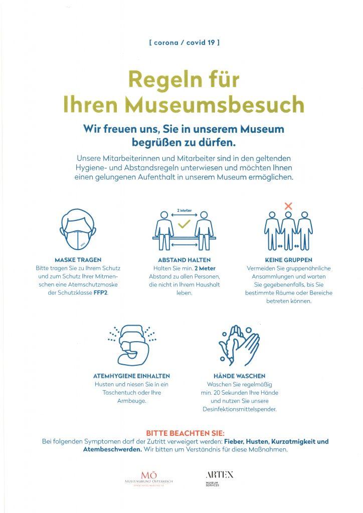 Ihre Regeln für den sicheren Museumsbesuch Jänner 2021