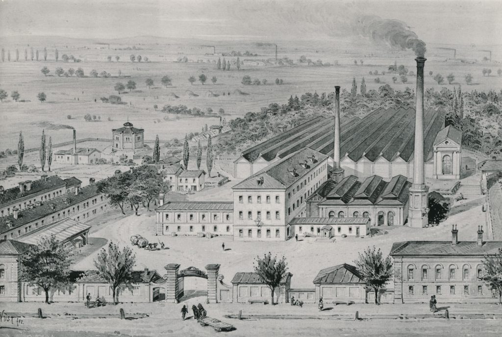 Ansicht Werk Möllersdorf um 1890