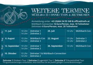 Termine Mühlbach Connection Zeitreise Traiskirchen
