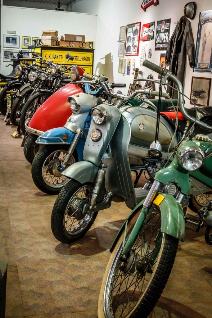 historische Motorräder im Museum Traiskirchen